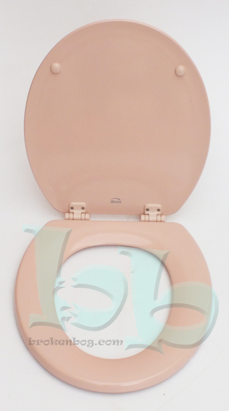 Bemis Coral Pink Group 1 Pink Toilet Seat Lid And Fittings